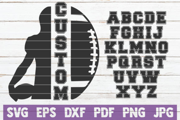 Football Custom Frame Graphic Graphic Templates By MintyMarshmallows