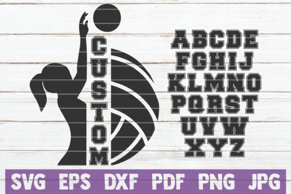 Volleyball Custom Frame Graphic Graphic Templates By MintyMarshmallows - Image 1