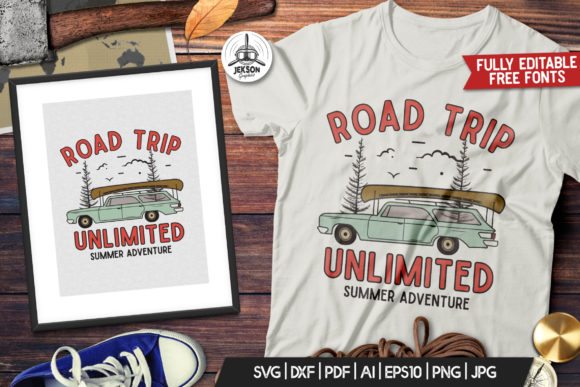 Road Trip Travel T-Shirt Design Graphic Graphic Templates By JeksonGraphics