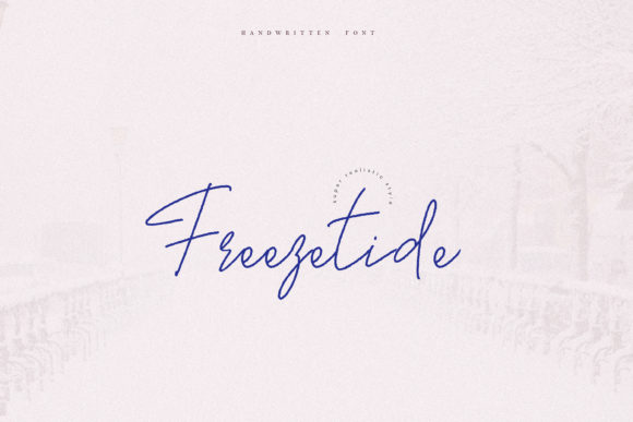Print on Demand: Freezetide Script & Handwritten Font By Primafox Design