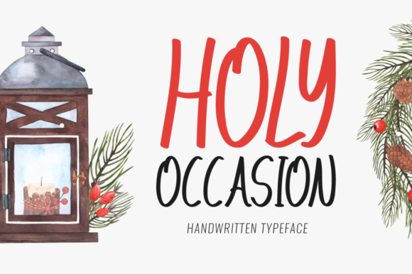 Print on Demand: Holy Occasion Display Font By FontEden