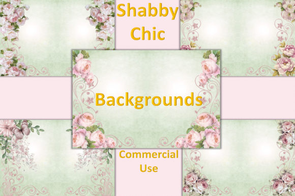 Print on Demand: Shabby Chic Backgrounds Graphic Backgrounds By The Paper Princess