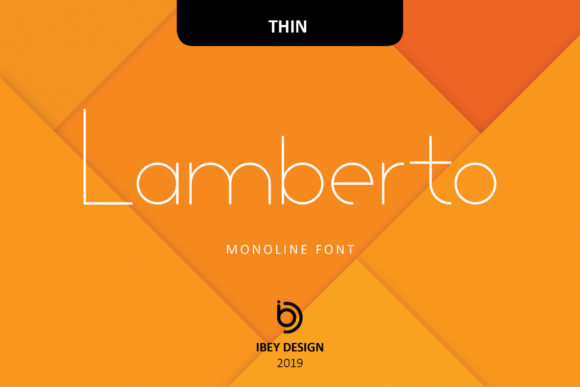 Print on Demand: Lamberto Thin Display Schriftarten von ibeydesign