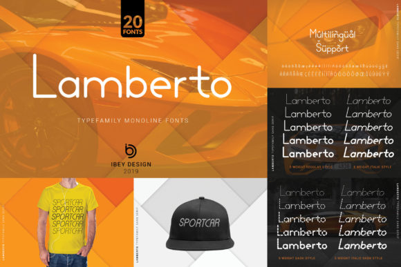 Print on Demand: Lamberto Thin Display Font By ibeydesign - Image 4