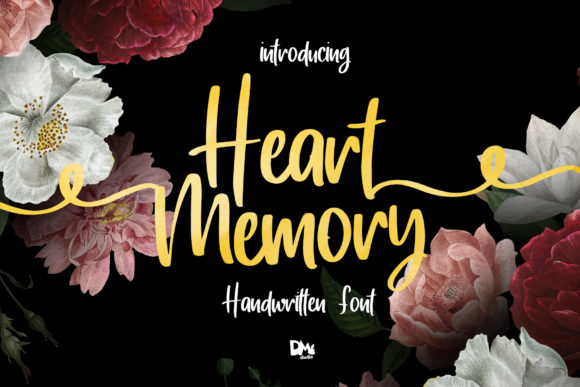 Print on Demand: Heart Memory Script & Handwritten Font By dmletter31