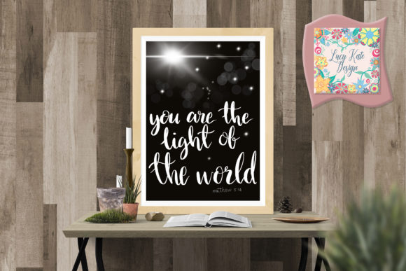 Download Free Light Of The World Christian Graphic Graphic By Lucy Kate Design for Cricut Explore, Silhouette and other cutting machines.