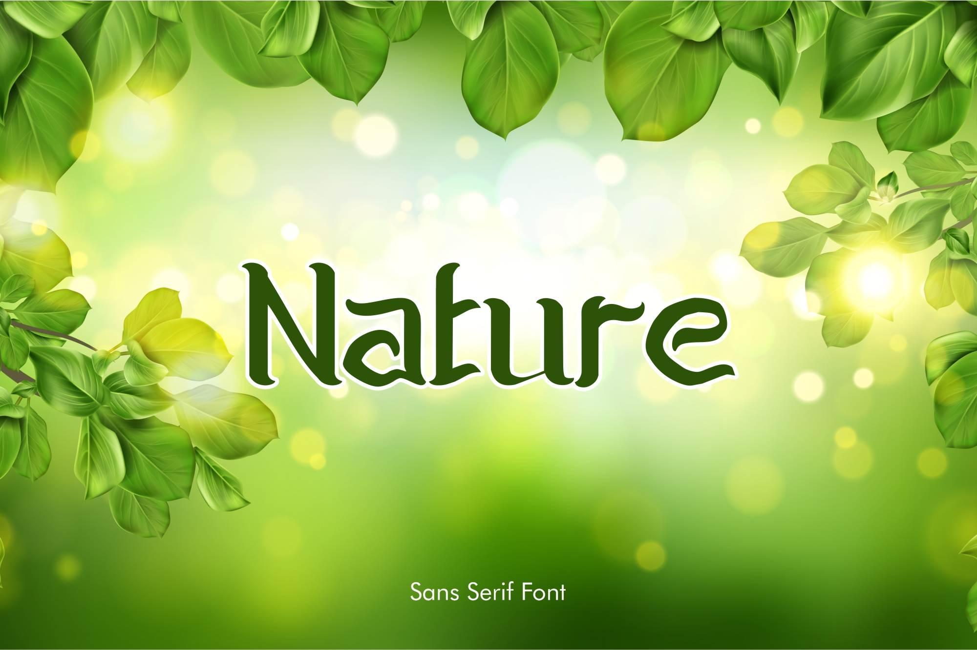 Download Free Nature Font By Tezar G Permana Creative Fabrica for Cricut Explore, Silhouette and other cutting machines.
