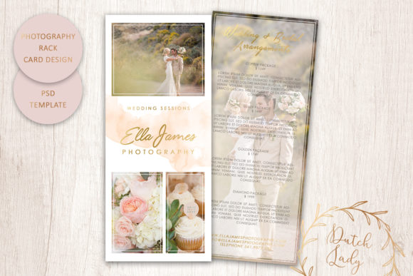 Print on Demand: PSD Photography Rack Card Template #3 Graphic Print Templates By daphnepopuliers