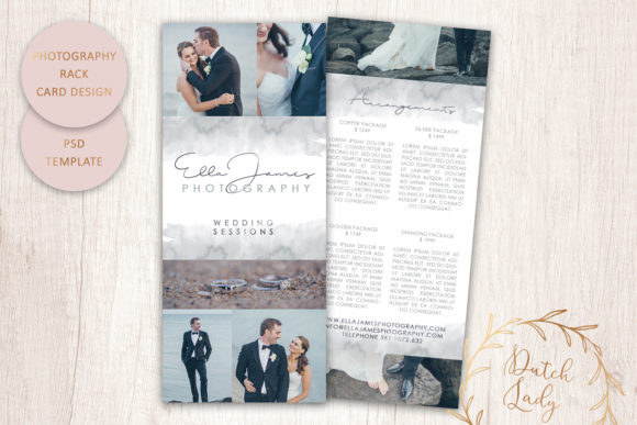 Print on Demand: PSD Photography Rack Card Template #4 Graphic Print Templates By daphnepopuliers