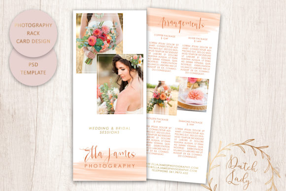 Print on Demand: PSD Photography Rack Card Template #5 Graphic Print Templates By daphnepopuliers