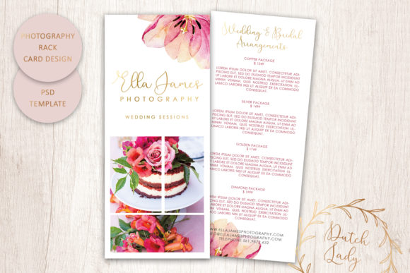 Print on Demand: PSD Photography Rack Card Template #6 Graphic Print Templates By daphnepopuliers