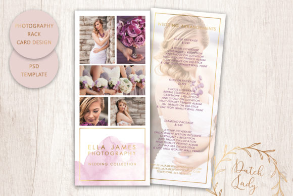 Print on Demand: PSD Photography Rack Card Template #1 Graphic Print Templates By daphnepopuliers
