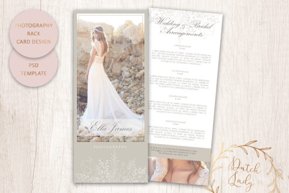 Print on Demand: PSD Photography Rack Card Template #7 Graphic Print Templates By daphnepopuliers