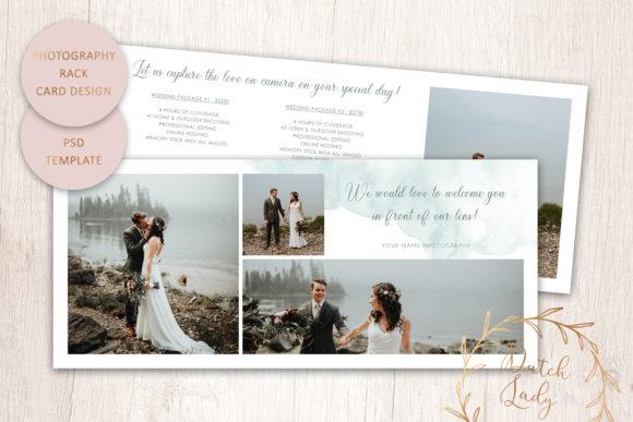 Print on Demand: PSD Photography Rack Card Template #8 Graphic Print Templates By daphnepopuliers