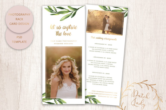 Print on Demand: PSD Photography Rack Card Template #9 Graphic Print Templates By daphnepopuliers