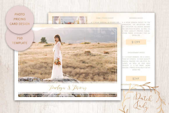 Print on Demand: PSD Photography Price Card Template #6 Graphic Print Templates By daphnepopuliers