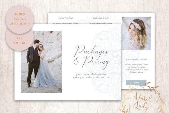 Print on Demand: PSD Photography Price Card Template #8 Graphic Print Templates By daphnepopuliers