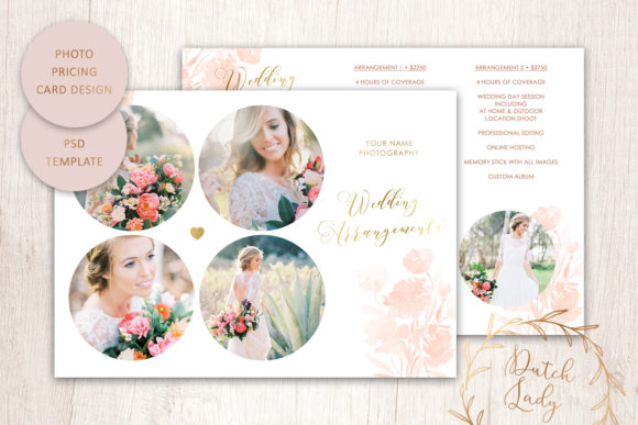 Print on Demand: PSD Photo Portfolio Card Template #11 Graphic Print Templates By daphnepopuliers