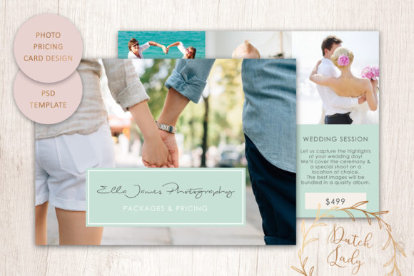 Print on Demand: PSD Photography Price Card Template #1 Graphic Print Templates By daphnepopuliers