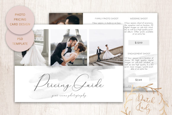 Print on Demand: PSD Photo Portfolio Card Template #13 Graphic Print Templates By daphnepopuliers