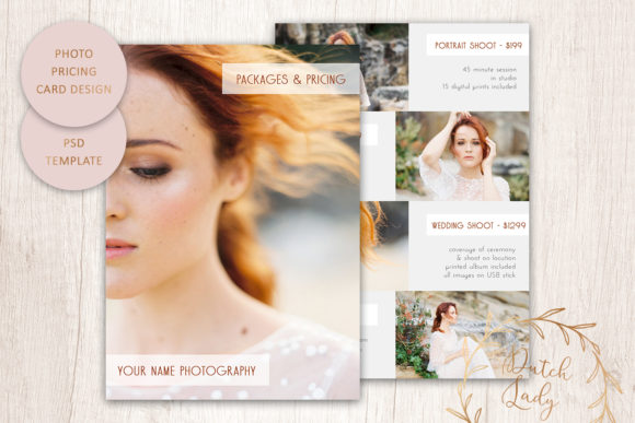 Print on Demand: PSD Photography Price Card Template #4 Graphic Print Templates By daphnepopuliers