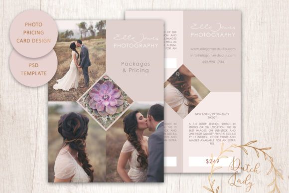 Print on Demand: PSD Photography Price Card Template #7 Graphic Print Templates By daphnepopuliers