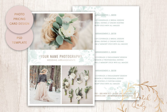 Print on Demand: PSD Photography Price Card Template #9 Graphic Print Templates By daphnepopuliers