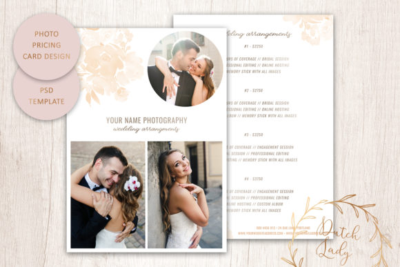 Print on Demand: PSD Photography Price Card Template #10 Graphic Print Templates By daphnepopuliers