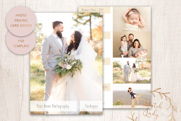 Print on Demand: PSD Photography Price Card Template #2 Graphic Print Templates By daphnepopuliers