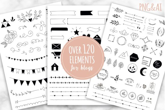Handy Blog Elements Graphic Web Elements By switzershop
