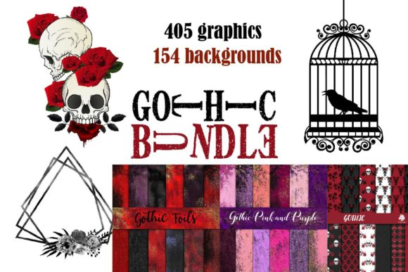 Print on Demand: Gothic BUNDLE Graphic Textures By fantasycliparts - Image 1