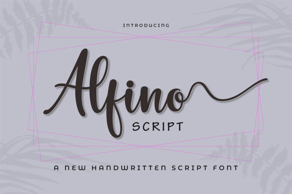 Print on Demand: Alfino Script Script & Handwritten Font By Max.co - Image 1