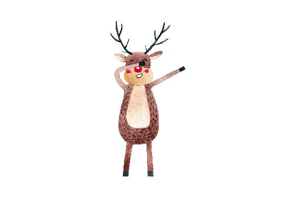 Download Free Dabbing Reindeer Watercolor Svg Cut File By Creative Fabrica Crafts Creative Fabrica for Cricut Explore, Silhouette and other cutting machines.