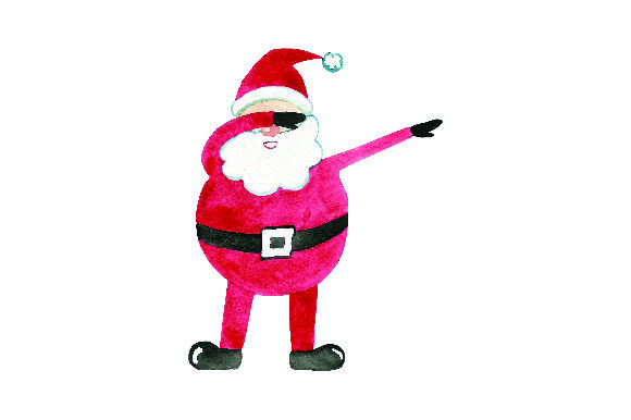 Download Free Dabbing Santa Claus Watercolor Svg Cut File By Creative for Cricut Explore, Silhouette and other cutting machines.