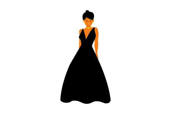 Woman in Gown Craft Design By Creative Fabrica Crafts