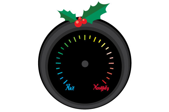 Naughty Nice Meter with No Arrow Craft Design By Creative Fabrica Crafts