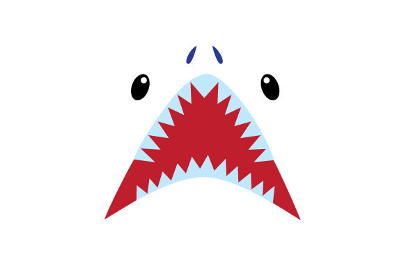 Floating Shark Face Animals Craft Cut File By Creative Fabrica Crafts