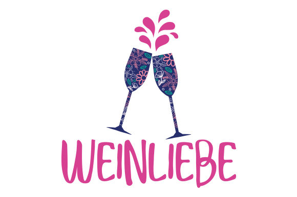 Download Free Weinliebe Svg Cut File By Creative Fabrica Crafts Creative Fabrica for Cricut Explore, Silhouette and other cutting machines.