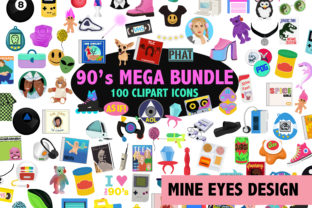 90s Clipart Megabundle Graphic By Mine Eyes Design
