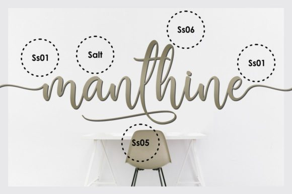 Print on Demand: Manthine Script & Handwritten Font By Ditoollis Project - Image 7