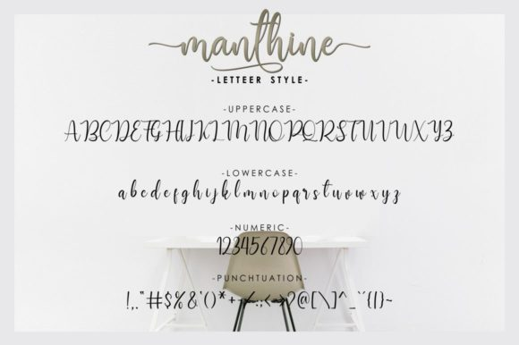 Print on Demand: Manthine Script & Handwritten Font By Ditoollis Project - Image 8