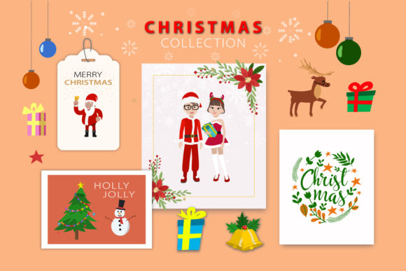 Download Free Christmas Avatar Elements Graphic By Faldy Kudo Creative Fabrica for Cricut Explore, Silhouette and other cutting machines.