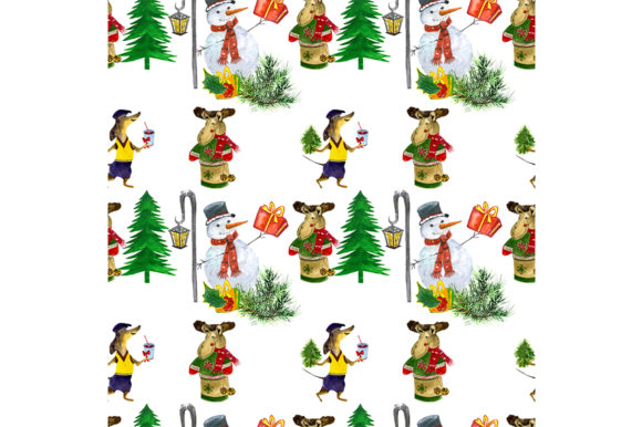 Download Free Seamless Christmas Pattern Graphic By Kakva Creative Fabrica for Cricut Explore, Silhouette and other cutting machines.