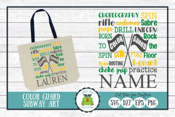 Download Free Color Guard Subway Art Graphic By Funkyfrogcreativedesigns for Cricut Explore, Silhouette and other cutting machines.