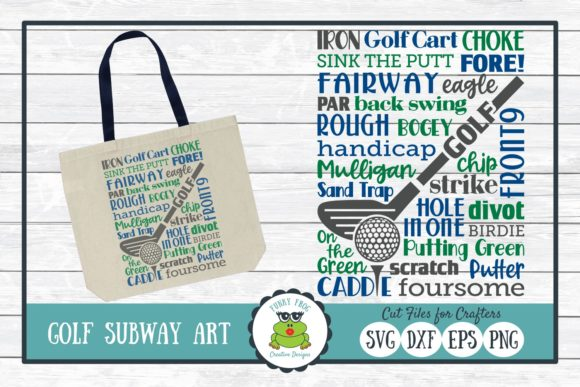 Download Free Golf Subway Art Graphic By Funkyfrogcreativedesigns Creative for Cricut Explore, Silhouette and other cutting machines.