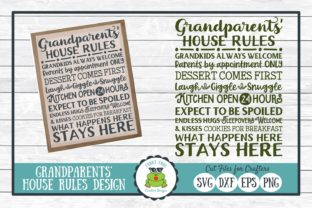 Grandparents' House Rules Subway Art Graphic By funkyfrogcreativedesigns
