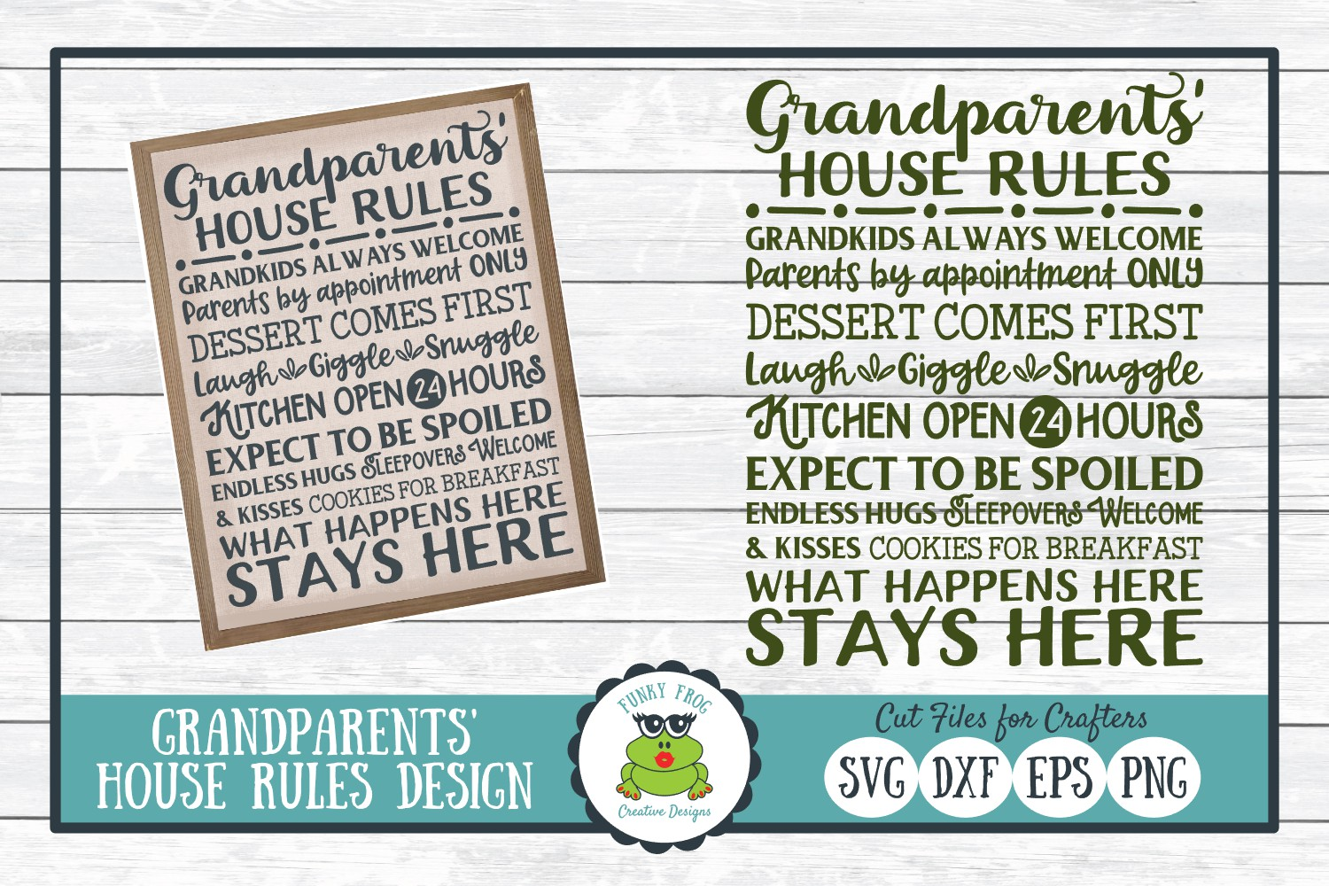 Download Free Grandparents House Rules Subway Art Graphic By for Cricut Explore, Silhouette and other cutting machines.