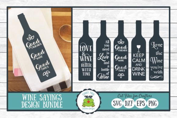 Download Free Wine Sayings Design Bundle Graphic By Funkyfrogcreativedesigns for Cricut Explore, Silhouette and other cutting machines.