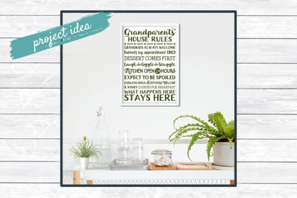 Grandparents' House Rules Subway Art Graphic By funkyfrogcreativedesigns Image 2