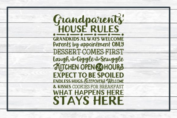 Grandparents' House Rules Subway Art Graphic By funkyfrogcreativedesigns Image 3